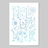 Hello Summer Lettering poster. Typographic Background Stock Photography