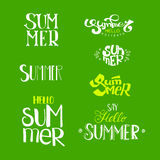 Hello Summer Lettering set Stock Photography