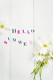 Hello Summer Letters Royalty Free Stock Image
