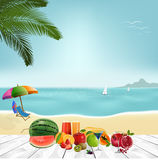 Hello Summer logo. Summer time, enjoy your holiday, vector illustration Royalty Free Stock Photos