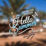 Hello Summer message Royalty Free Stock Photo