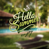 Hello Summer message Royalty Free Stock Image
