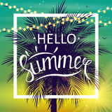 Hello Summer Natural Background Vector Illustration Royalty Free Stock Photography