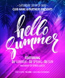 Hello Summer Party Flyer. Vector Design vector illustration