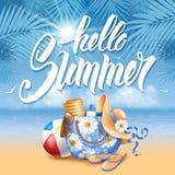 Hello Summer Stock Photo