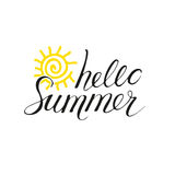 Hello Summer phrase Royalty Free Stock Images