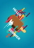 Hello summer poster Royalty Free Stock Image