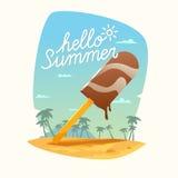 Hello Summer poster. Stock Photos