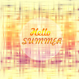 Hello summer poster Royalty Free Stock Photos