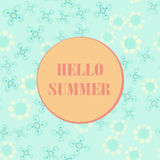 Hello summer poster pastel, summer party design template Royalty Free Stock Photo