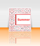 Hello summer poster. summer background Royalty Free Stock Images
