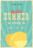 Hello summer poster. Summer background. Effects poster, frame, colors background and colors text are editable. Happy Stock Photo
