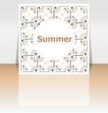 Hello summer poster. summer background. Effects poster, frame. Happy holidays card, happy vacation card Royalty Free Stock Images