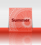 Hello summer poster. summer background. Effects poster, frame. Happy holidays card, happy vacation card. Enjoy your summer. Stock Photography
