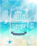 Hello summer poster. Stock Photography