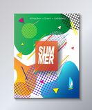 Hello Summer poster tropical travel festival. Hello Summer Festival 2018 music, jazz, pop, disco, dance, club, Holiday colorful modern poster, flyer, brochure Stock Photos