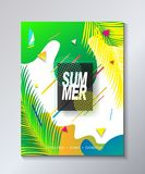 Hello Summer poster tropical travels festival Royalty Free Stock Image