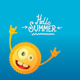 Hello summer rock n roll poster. summer party Stock Image