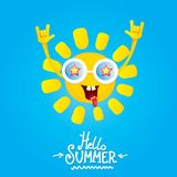 Hello summer rock n roll poster. summer party Stock Photography