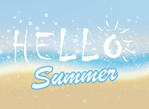 Hello_summer2_2. It's Summer Time against the background of the wheel Stock Photos