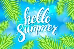 Hello Summer sea Party Flyer. Vector Design EPS 10 Stock Photo