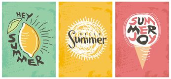 Hello summer seasonal banners collection Stock Image
