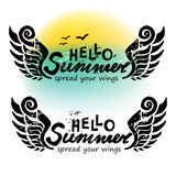 Hello summer Stock Image