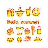 Hello summer vector royalty free illustration