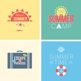 Hello summer set. Vector illustration. Vintag - card Hello summer set. Vector illustration vector illustration