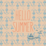Hello summer - summer background Stock Image