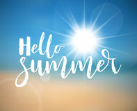 Hello Summer - Summer holiday poster Stock Photo