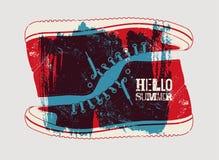 Hello Summer! Summer typographic grunge retro poster design. Vector illustration. Stock Photo