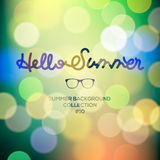 Hello summer, summertime blurred background Stock Photography