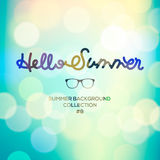 Hello summer, summertime blurred background Royalty Free Stock Image