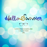 Hello summer, summertime blurred background Royalty Free Stock Photos