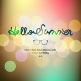 Hello summer, summertime blurred background Stock Image
