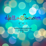 Hello summer, summertime blurred background Royalty Free Stock Photo