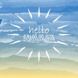 Hello summer with sun Royalty Free Stock Photo