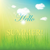 Hello summer! Stock Images