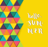 Hello summer super colorful design Royalty Free Stock Photo