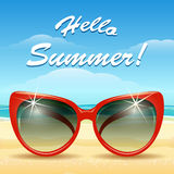 Hello Summer Theme Royalty Free Stock Photo
