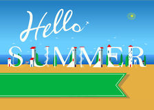 Hello summer. Travel card Stock Photo