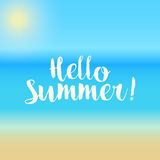 Hello Summer! - Vector Background eps10. Hello Summer! - ocean / beach Vector Background eps10 Royalty Free Stock Image