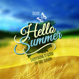 Hello Summer Vector blurred background. Stock Photography