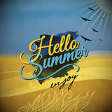 Hello Summer Vector blurred background Royalty Free Stock Photos