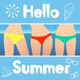 Hello summer. Vector illustration stock illustration