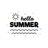 Hello summer. Vector illustration. Stock Photography