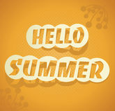 Hello Summer. Vector summer background. Stock Photos