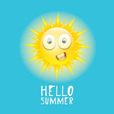 Hello Summer. vector summer smiling sun Stock Photography