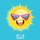 Hello Summer. vector summer smiling sun Stock Photo